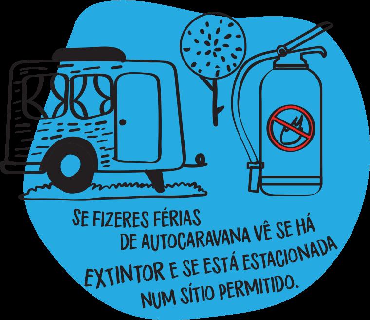 Se fizeres férias de autocaravana vê se há extintor e se está estacionada num sítio permitido.
